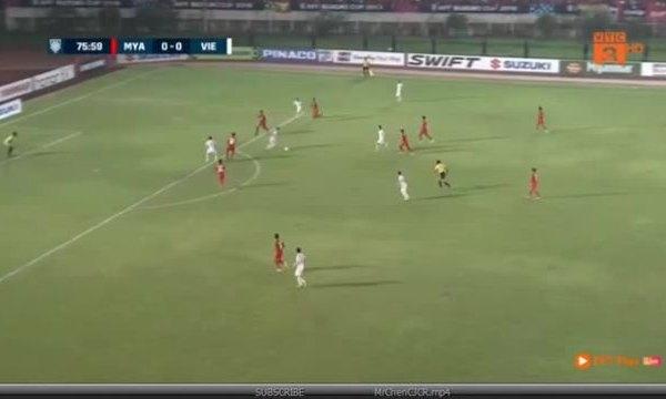 Bàn thắng không được công nhận của tuyển Việt Nam gặp Myanmar
