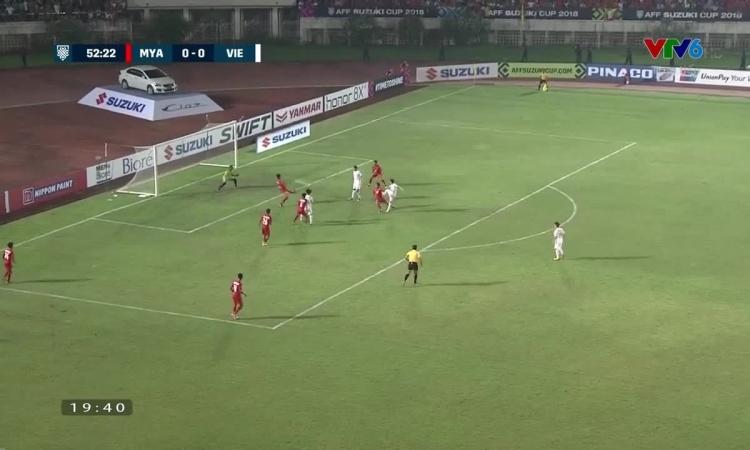 uyển Việt Nam chơi áp đảo ở hiệp 2 gặp Myanmar