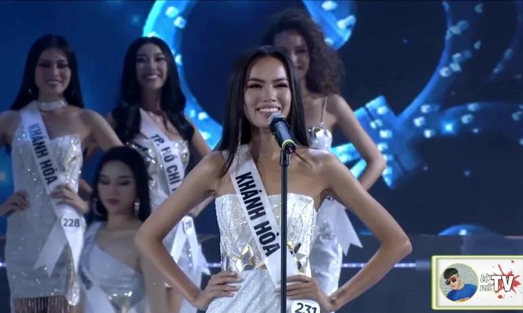 Lê Hoàng Phương bán kết Hoa hậu Hoàn vũ Việt Nam 2019