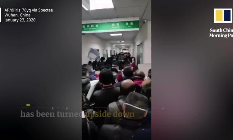 Bệnh viện quá tải ở Vũ Hán