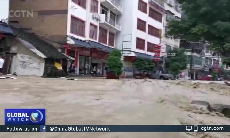 Video lũ lụt tại Trung Quốc