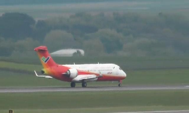 Máy bay ARJ21 của Trung Quốc cất cánh tại Vienna (Áo)