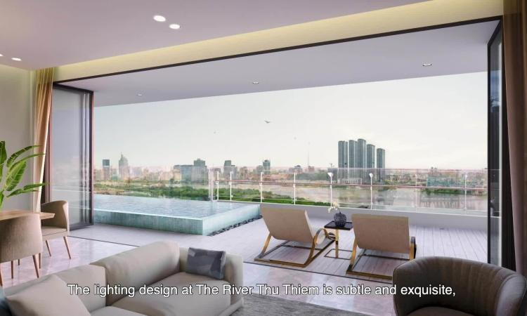 The River Thu Thiem thiết kế ánh sáng như khu nghỉ dưỡng