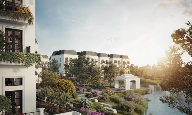 Sức hút của những biệt thự kiểu Pháp bên hồ tại Le Jardin