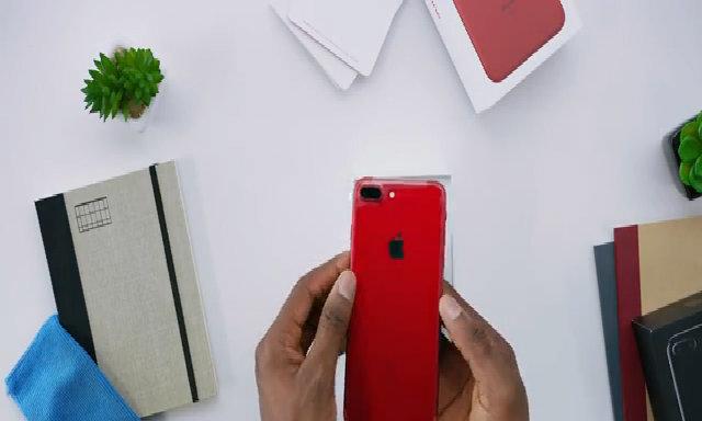 Video thực tế iPhone 7 Plus màu đỏ