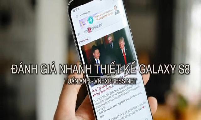 Đánh giá nhanh thiết kế Galaxy S8+