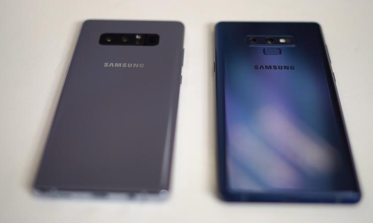 So sánh Galaxy note 9 và Galaxy note 8