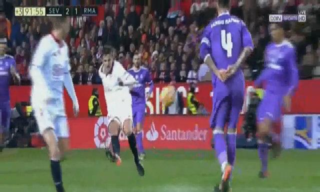 Diễn biến chính trận Sevilla 2-1 Real