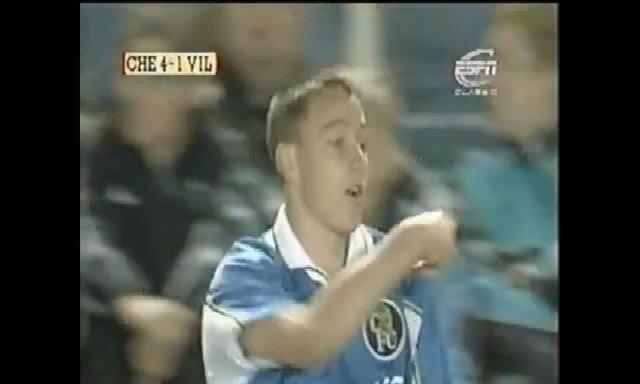 John Terry ra mắt trong trận tiếp Aston Villa năm 1998