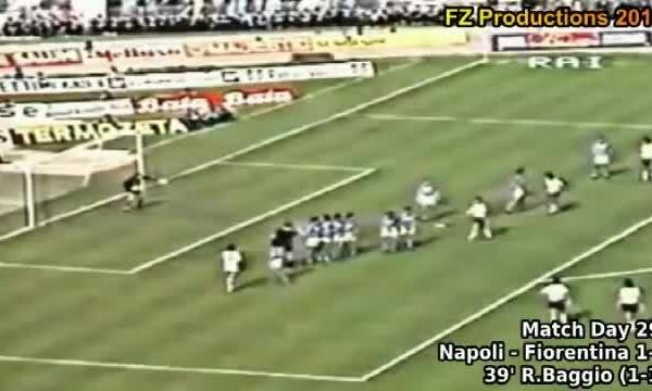 Napoli 1-1 Fiorentina (Serie A 1986-1987): Siêu phẩm đá phạt của Baggio