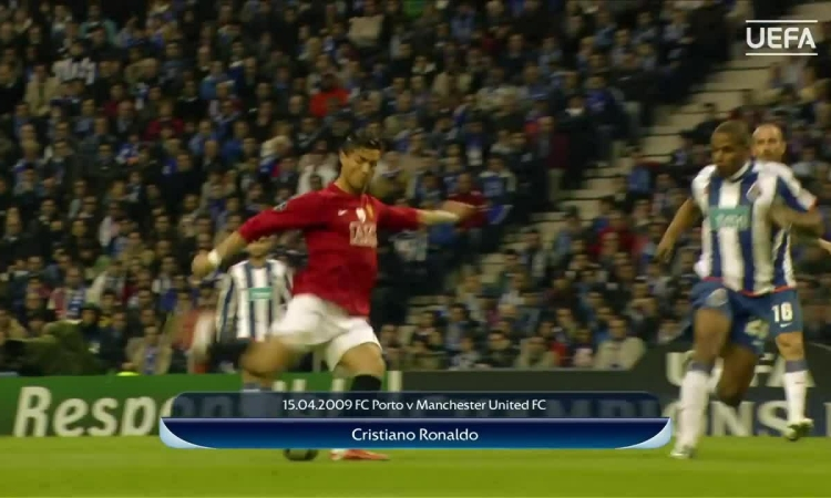 Tuyệt phẩm sút xa của Ronaldo vào lưới Porto năm 2009