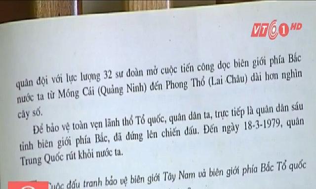 Cuộc chiến chống quân Trung Quốc chỉ có 11 dòng trong sách giáo khoa