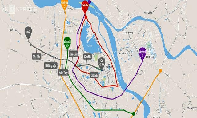 Kết nối tuyến Metro Nhổn -Ga Hà Nội với hệ thống đường vành đai