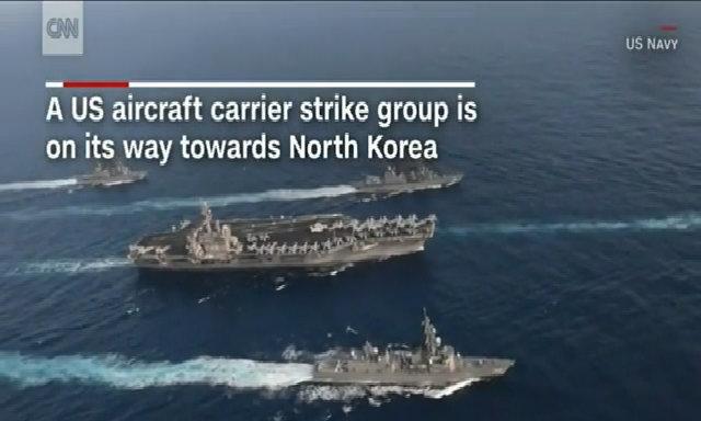 Cụm tàu sân bay Mỹ tiến gần bán đảo Triều Tiên