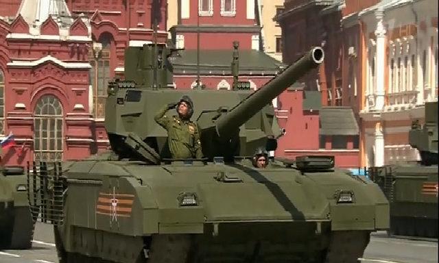 Lần đầu xe tăng T-14 Armata xuất hiện công khai
