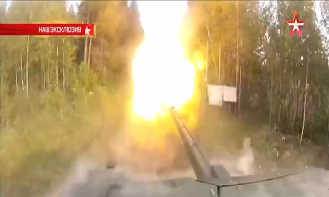 T-14 Armata bắn thử pháo 125 mm