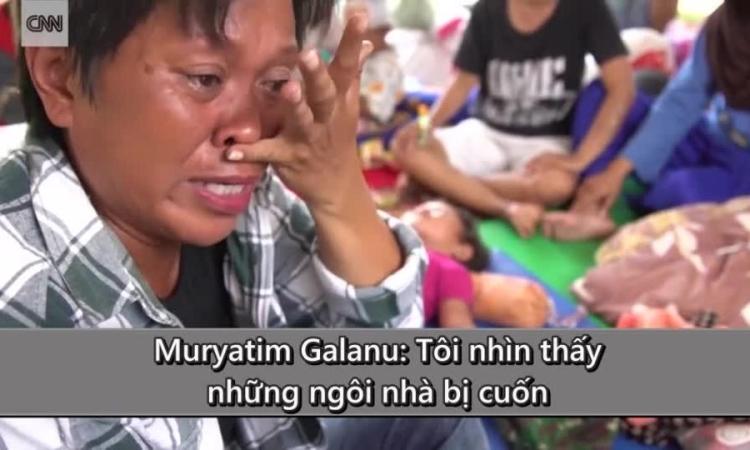 Nhân chứng kể thời điểm đất hóa lỏng 'nuốt chửng' nhiều người ở Indonesia